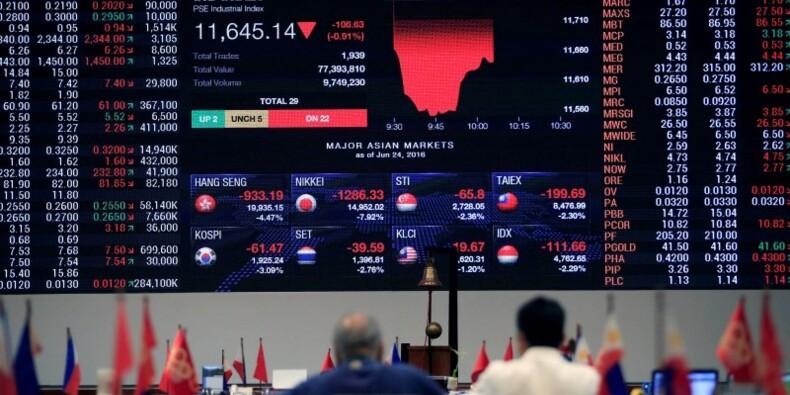 Livre et euro chutent encore, les marchés résistent en Asie
