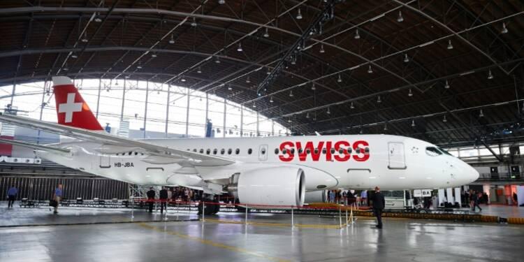 Aéronautique: Swiss inaugure le premier C Series de Bombardier