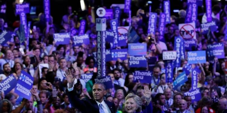 A Philadelphie, Obama défend Clinton, Biden éreinte Trump
