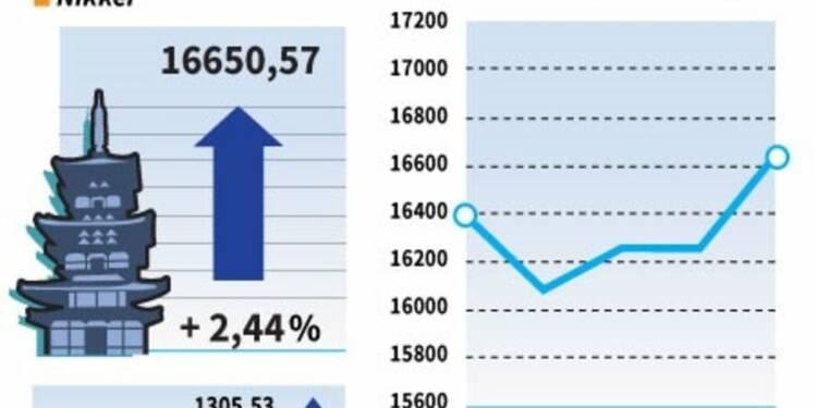 La Bourse de Tokyo finit en hausse de 2,44%