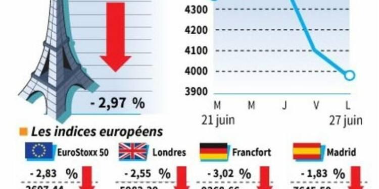 Net repli à nouveau des Bourses européennes à la clôture