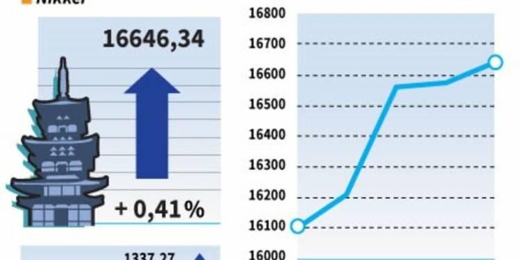 La Bourse de Tokyo finit en hausse de 0,41%