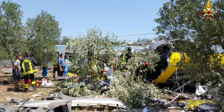 Une collision ferroviaire fait 25 morts dans le sud de l'Italie