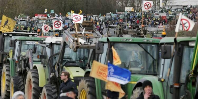 Des milliers d'opposants à Notre-Dame-des-Landes manifestent