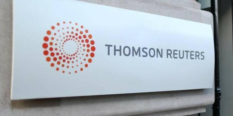 Thomson Reuters publie un chiffre d'affaires trimestriel étale