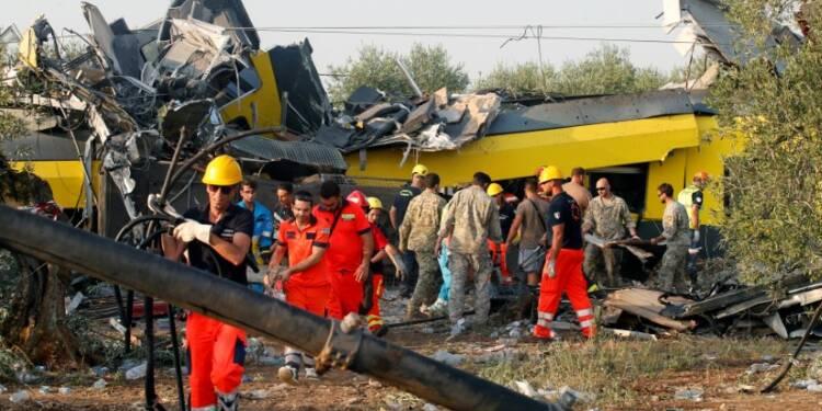 Le bilan de l'accident de train en Italie ramené à 23 morts