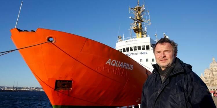 """L'""""Aquarius"""" au secours des migrants en Méditerranée"""