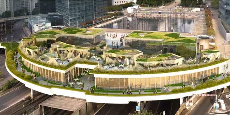 Bientôt un grand jardin-terrasse au cœur du quartier d'affaires de La Défense