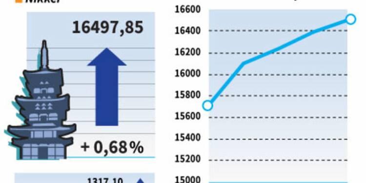 La Bourse de Tokyo porte à 9,21% sa progression sur la semaine