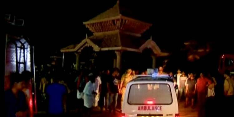 Un incendie dans un temple en Inde fait près de 100 morts