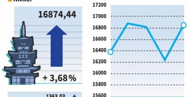 La Bourse de Tokyo clôture en hausse de 3,68%