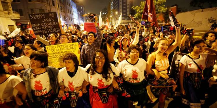 Manifestation anti-Fujimori au Pérou