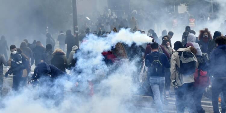 Loi travail: violents affrontements en marge des manifestations