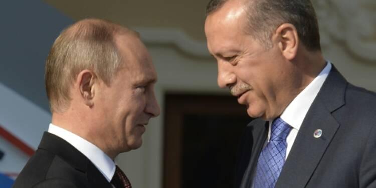 Erdogan à Saint-Pétersbourg pour briser la glace avec Poutine
