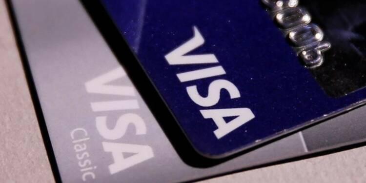 Visa affiche un bénéfice trimestriel en forte baisse