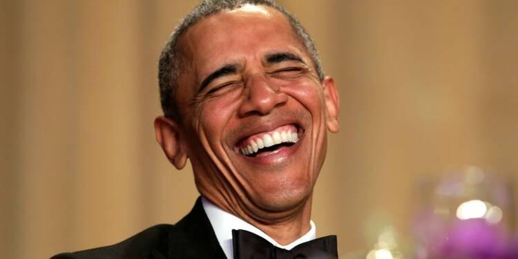 Trump, cible favorite d'Obama lors du dîner de la Maison blanche