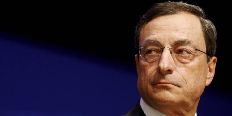 """Draghi ne voit qu'un risque """"limité"""" de déflation en zone euro"""