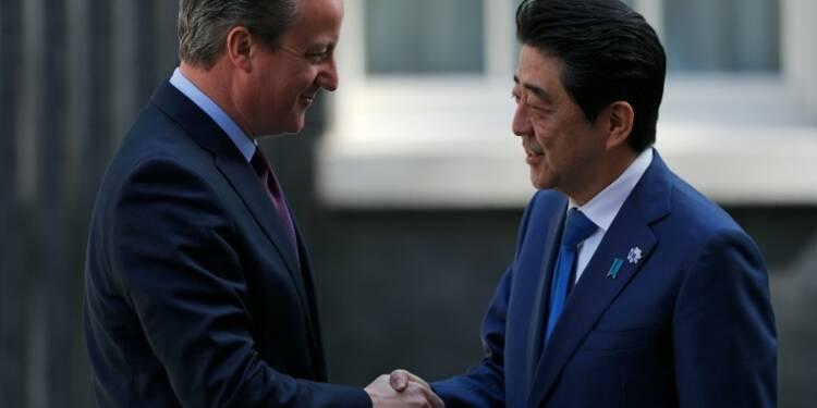 """Un Brexit rendrait le Royaume-Uni """"moins attractif"""" affirme Abe"""