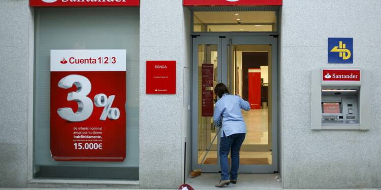 Santander va fermer des centaines d'agence en Espagne
