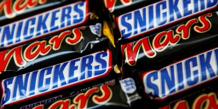 Rappel massif de bonbons et barres chocolatées du groupe Mars