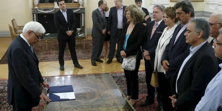 Les nouveaux ministres grecs prêtent serment