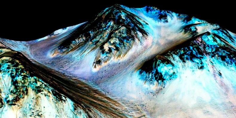 De l'eau coulerait à la surface de la planète Mars