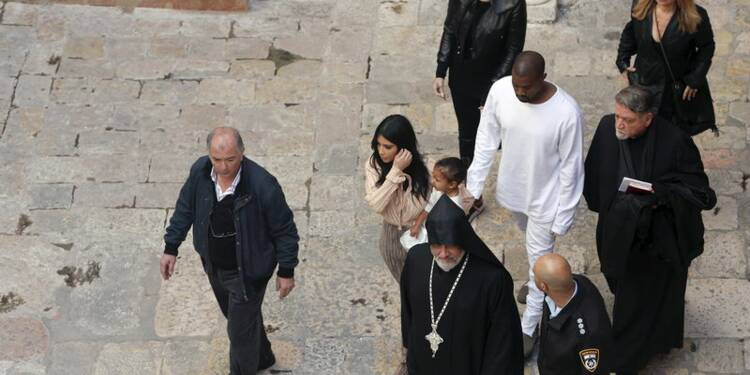 Kim Kardashian fait baptiser sa fille à Jérusalem-Est