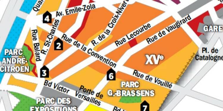 Immobilier à Paris : la carte des prix du 15e arrondissement