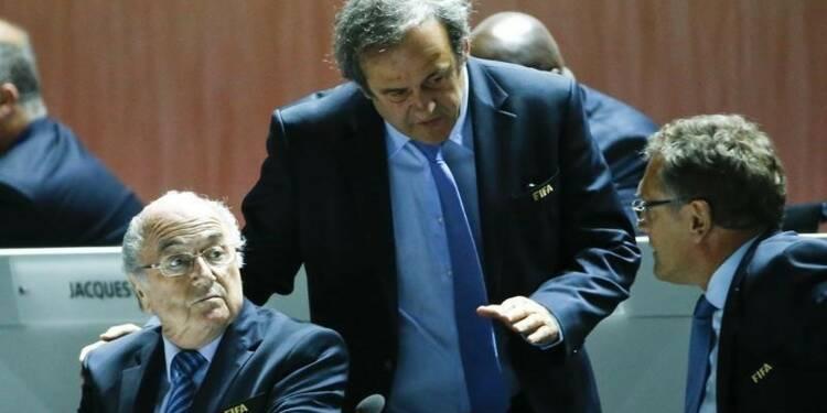 Sepp Blatter et Michel Platini suspendus de la FIFA pour 3 mois