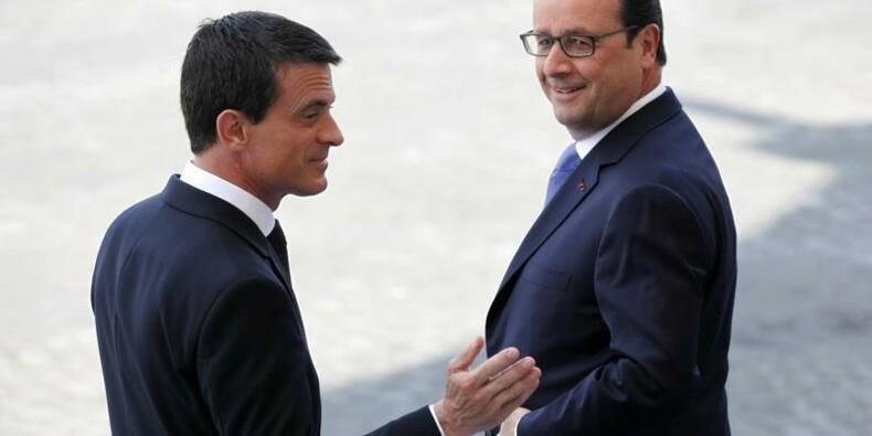 La cote de popularité de Hollande et Valls progresse, selon BVA