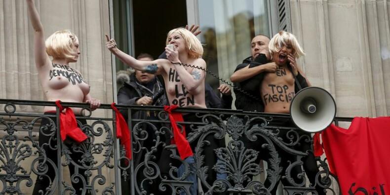 Marine Le Pen porte plainte contre les Femen
