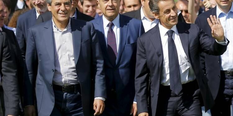 """A La Baule, Sarkozy, Juppé et Fillon affichent leur """"unité"""""""
