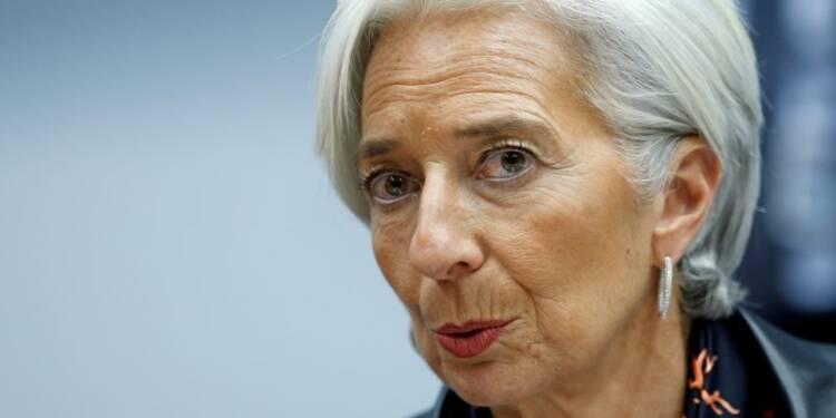 Lagarde craint la persistance d'une croissance médiocre