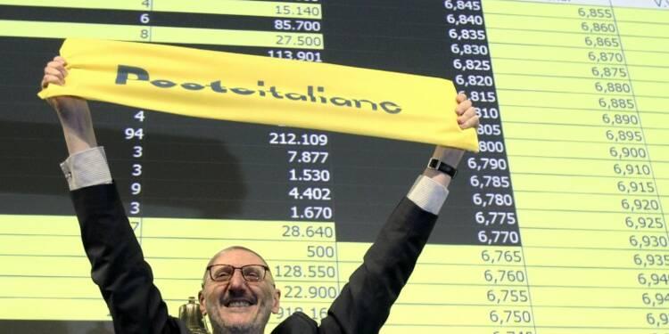 Poste Italiane fait ses débuts en Bourse en hausse puis retombe