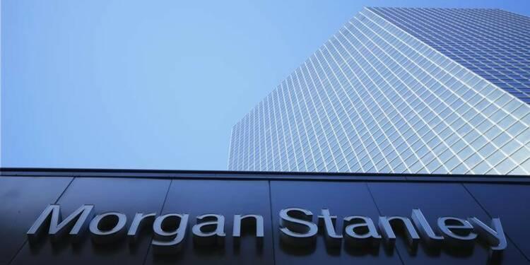 La baisse des résultats fait chuter l'action de Morgan Stanley