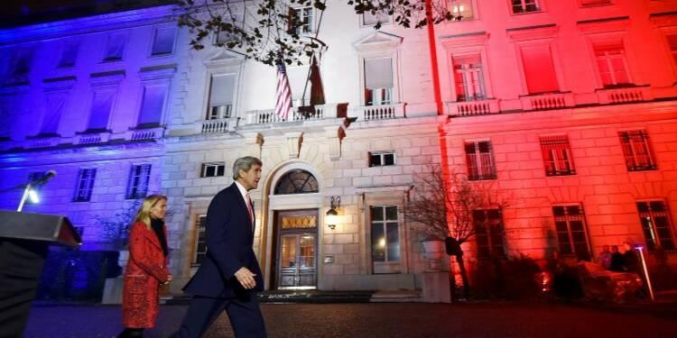 John Kerry à Paris pour souligner la solidarité des Etats-Unis