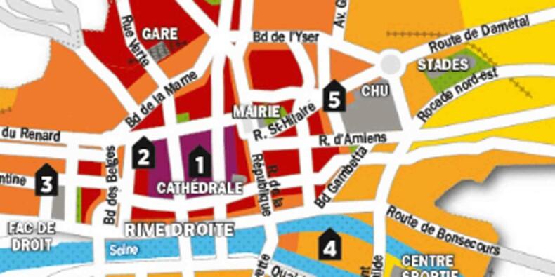 Immobilier : la carte des prix de Rouen