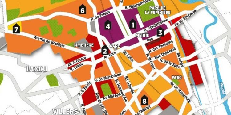 Immobilier : la carte des prix de Nancy