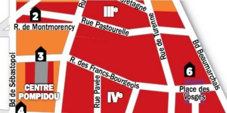 Immobilier à Paris : la carte des prix des 3e et 4e arrondissements