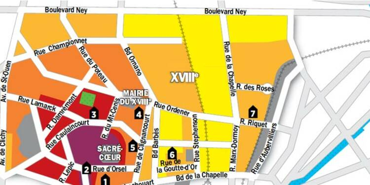 Immobilier à Paris : la carte des prix du 18e arrondissement