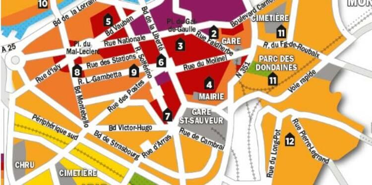 Immobilier : la carte des prix de Lille