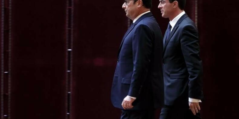 Hollande et Valls en perte de vitesse selon un sondage
