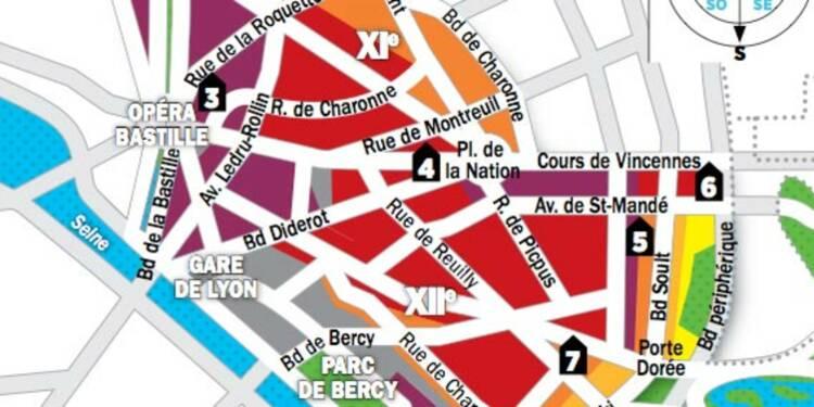 Immobilier à Paris : la carte des prix des 11e et 12e arrondissements