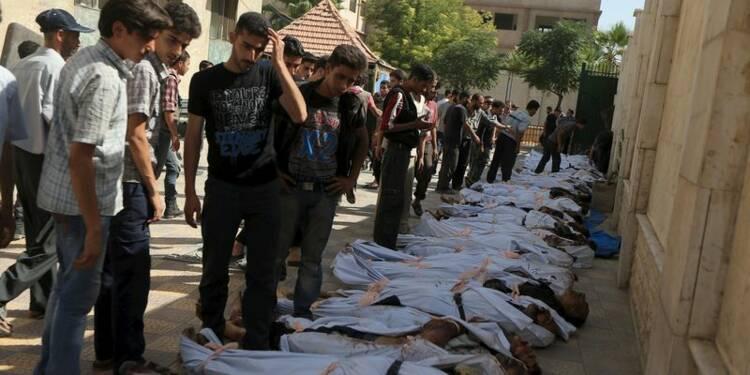 Le bilan du bombardement aérien en Syrie proche des 100 morts