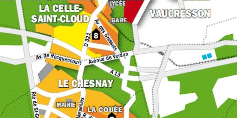 Immobilier en Ile-de-France : la carte des prix de Versailles, Le Chesnay et La Celle-Saint-Cloud