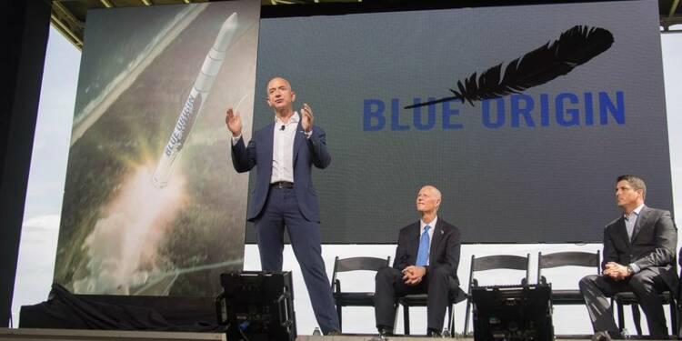 Le patron d'Amazon dévoile son projet spatial
