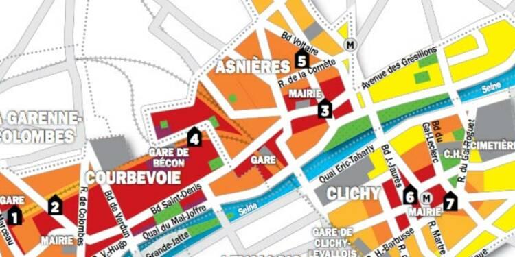 Immobilier en Ile-de-France : la carte des prix de Clichy, Asnières et Courbevoie