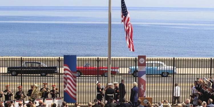 Le drapeau américain flotte à nouveau à La Havane