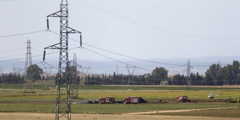 Accident d'un avion de transport militaire en Espagne