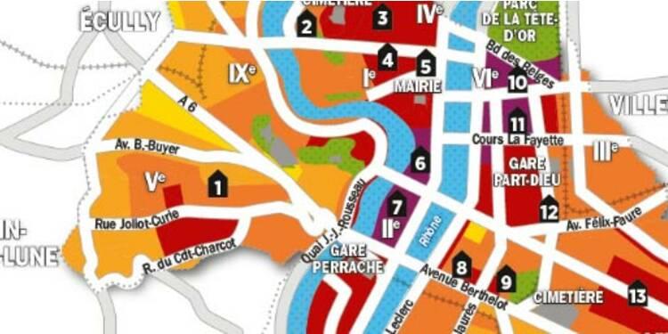 Immobilier : la carte des prix de Lyon